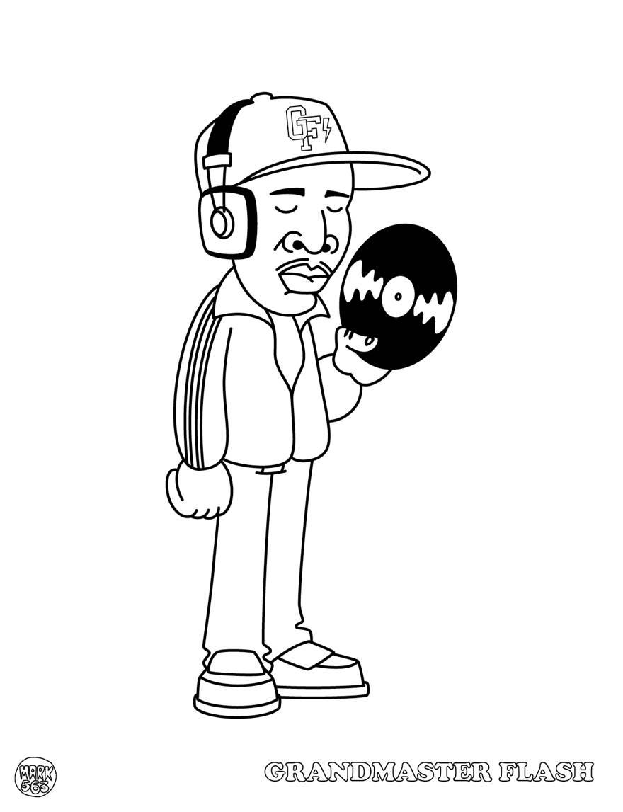 Hip Hop Coloring Book Dokument Press