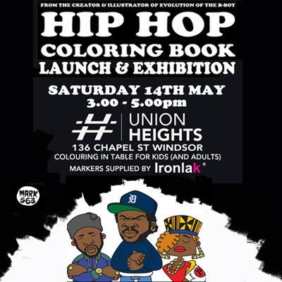 Melbourne Book Launch Of Hip Hop Coloring Book Dokument Press